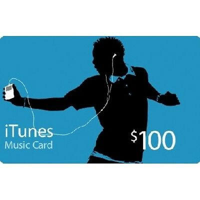 $100 US APPLE ITUNES STORE GIFT CARD - Worldwide - Fast Shipping