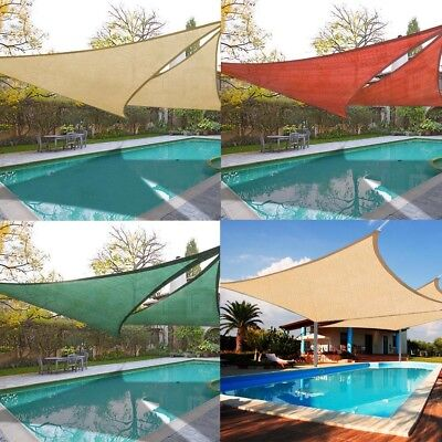 Triangle/Square/Rectangle Sun Shade Sail Outdoor Garden Cover UV Canopy Awning