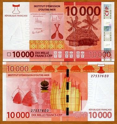 French Pacific Territories, 10000 (10,000) Francs ND (2014) P-8, UNC