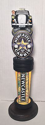 """Newcastle Cabbie Black Ale 11.5"""" Tall Beer Tap Handle - Brand New"""