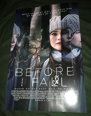 Before I Fall signed cast poster 11x17 Zoey Detuch Kian Lawley book photo proof
