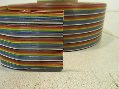 3M  3302/50  Ribbon Cable, Color Coded Flat, Multi-colored, 50 Conductor, 28 AWG