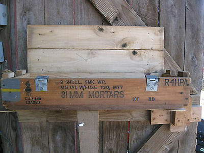 Vintage Us Military 81Mm Mortar Wooden Ammunition Shell Crate