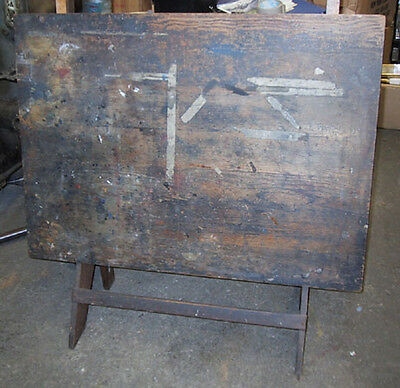 Antique (Possibly Deitzgen) Drafting Table & Stand, Cast Iron and Solid Oak