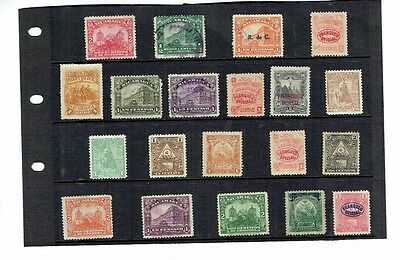 Stamps Nicaragua early stamps overprints all good just 1 missing a corner