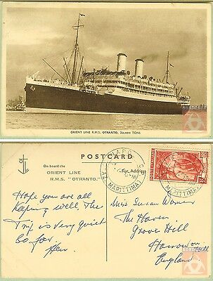 Italie - Carte Postale PAQUEBOT - OTRANTO - Posted at Sea 1953 - Naples