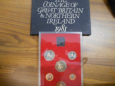 1981 Coinage of Great Britain and Northern Island 6 Coin Proof Set