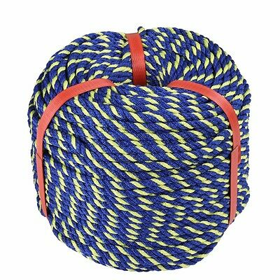 6mm x 100m Heavy Duty Anchor Rope Coil Camping Boating Breaking Strength 600Kg