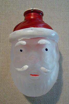 Vintage Old World Santa Face Glass String Light Cover Father Christmas