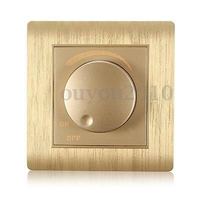 110-250V LED Dimmer Wall Switch Dimmable Light Bulb Gold Adjustable Controller