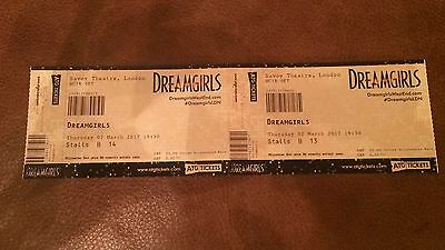 DreamGirls - Pair Of Show tickets Savoy London Close To Stage B13 & B14