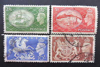 GB stamps -1951 -  King George V1, complete set of 4 used stamps.