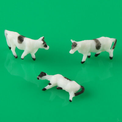 20pcs N Scale 1:150 Well Painted Farm Animals Cows Model Layout
