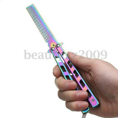 New Metal Practice Butterfly Comb Knifes Practice Trainer Cool Sports Tool
