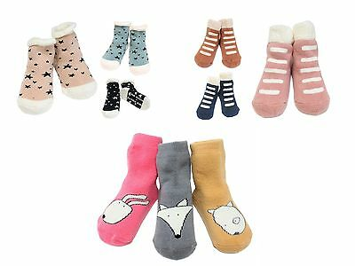 Discounted 99p Cotton Rich Baby Boys Girls Socks Age 1 to 5 Anti-skid