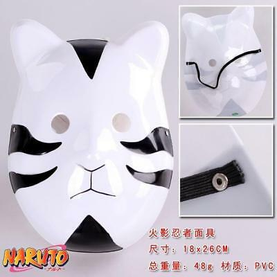 Anime Naruto Anbu Ninja Cosplay Costume Mask Halloween Masquerade Mask Black