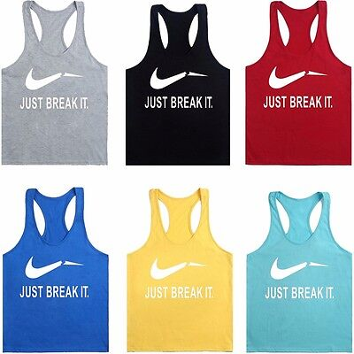 Mens Gym Singlets - Tank Top for Bodybuilding and Fitness Vest Training T-shirt