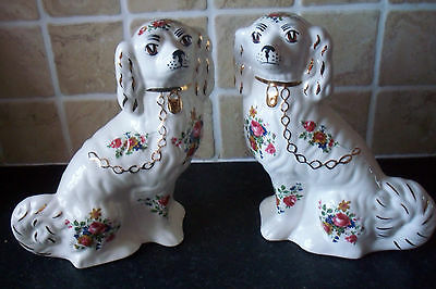pair of stafforshire flat back dogs