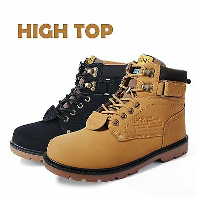 Mens Leather Boots Waterproof Cap Safety GROUNDWORK Hiking Walking Boots Lace Up