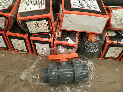 43mm Solvent Weld Ball Valve Double Union PVC Equivalent ABS