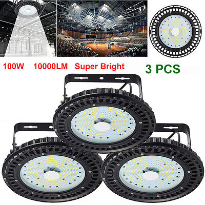 4X 100W LED High Bay Light Industrial Lamp Factory Warehouse Roof Shed Lighting