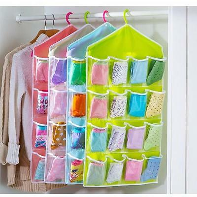 1pc Hot Portable Clothing Socks Underwear Hanging Cabinet Wardrobe Storage Bags