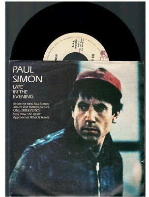 """Paul Simon Late In The Evening + How The Heart Approches What It Yearns 7""""45 Rpm"""