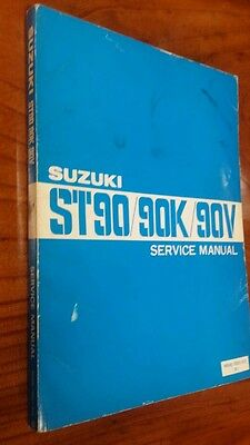 Suzuki ST90 / 90K / 90V motorcycle Workshop manual
