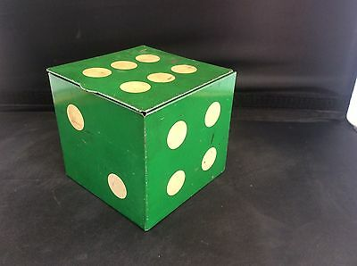 Rare green coloured 1960s Vintage Hollands Southport Toffee Dice Tin Advertising