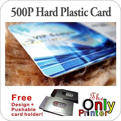 500 full colour Hard Plastic Business VIP Cards printing 500P + free card holder