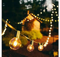 50 new indoor outdoor G40 clear bulb ambience string lights x2 25 bulbs
