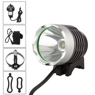 UK 1800LM Cree XM-L T6 Rechargeable Front Mountain Bicycle Bike Head Light Lamp