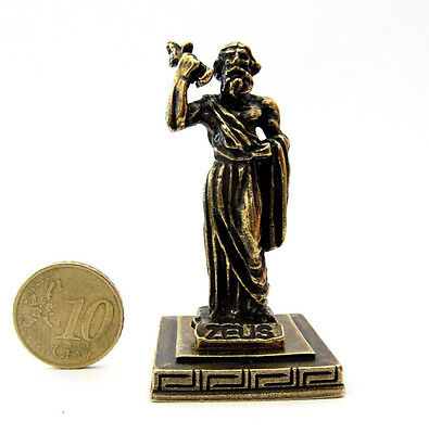 Statue Zeus King Of Gods Greek Olympian God Zamac Ancient Miniature Sculpture