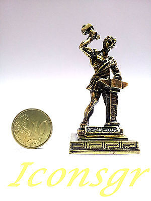 Statue Hephaestus Greek Miniature Olympian God Pantheon Ancient Sculpture Zamac