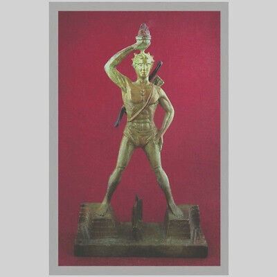 Ancient Greek Bronze Museum Statue Replica Colossus Rhodes 7 Wonders Collectable