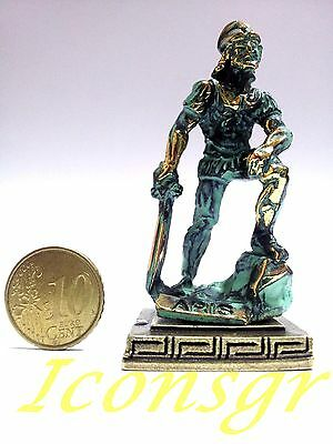 Ancient Greek Olympian God Miniature Sculpture Statue Zamac Ares King Of War GG