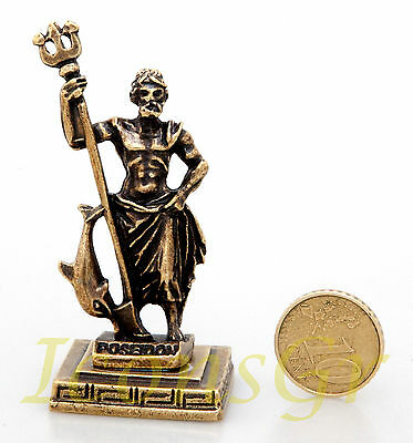 Ancient Statue Poseidon Greek Miniature Olympian God Pantheon Sculpture Zamac G