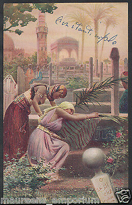Constantinople Postcard - On An Arabian Cemetery    RS1411