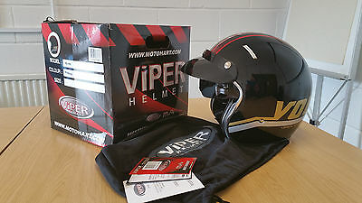 VIPER RS-V06 OPEN FACE MOTORBIKE CRASH HELMETS: Size XL