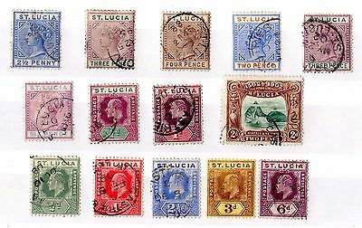 St Lucia QV/KEVII Collection of 14 Mint/VFU X5479