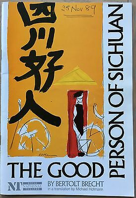 FIONA SHAW The Good Person of Sichuan 1989 PROGRAMME NT David Schneider Theatre