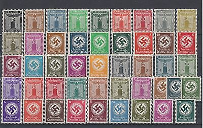 WWII Third Reich Service 4 Complete Sets Eagle & Swastika Michel 132/77MLH Luxe