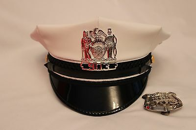 Obsolete Nypd Traffic Officers Hat & Breast Badge (Matching Numbers)