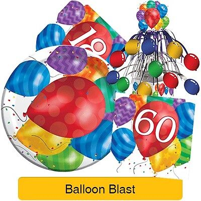 BALLOON BLAST Birthday Party Range - Tableware Banners & Decorations {Creative}