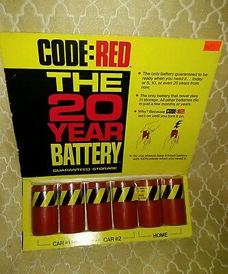 CODE RED 20 year BATTERY SURVIVAL GEAR FIRST AID CAMPING