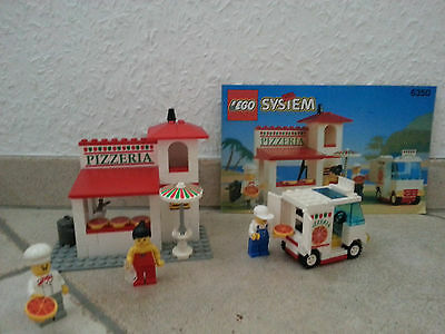 Lego 6350 - Pizza Paules Lieferservice - Pizza to go - komplett + BA - 1994