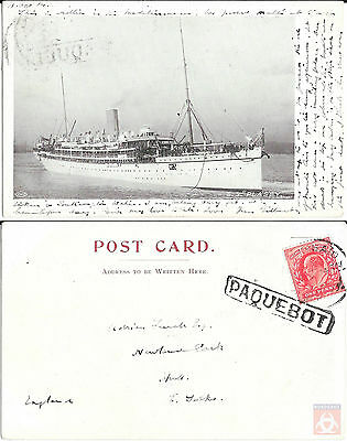 Angleterre - Carte Postale PAQUEBOT - PLASSY - Posted at Sea 1904 - Port Said