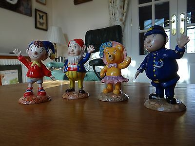 Royal Worcester Set of 4 Noddy Figurines in perfect condition