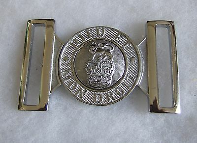British & Colonial Police General Service Ceremonial Qc Chrome Belt Buckle