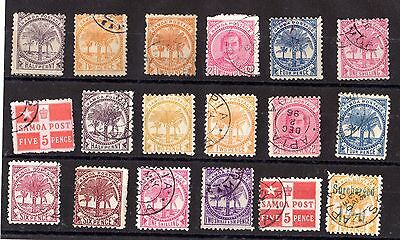 Samoa Early Collection of 18 Values VFU X5489